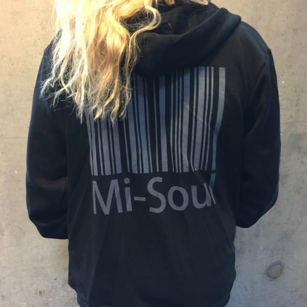 unisex zipped hoodie