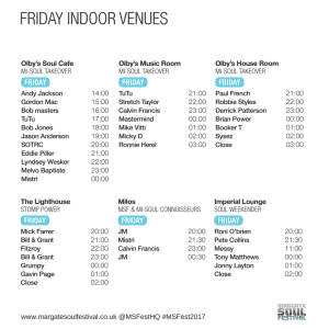 #MSFest2017 Friday Timetable