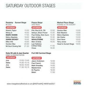 #MSFest2017 saturday Timetable